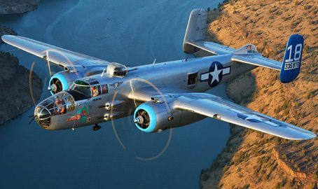 "The B-25J Bomber ""Maid in the Shade"""